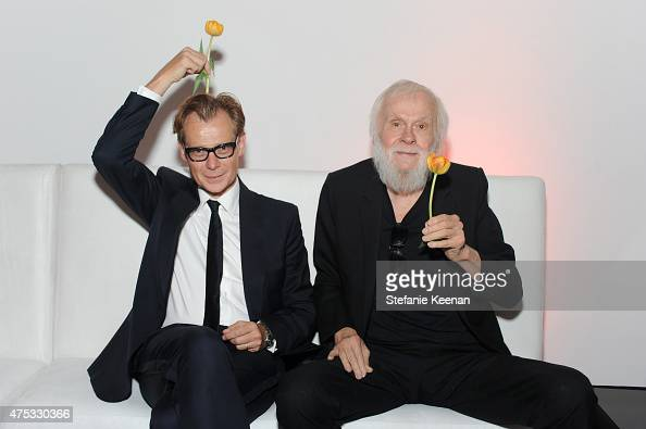 Director Philippe Vergne and Artist and Honoree John Baldessari attends the 2015 MOCA Gala presented by Louis Vuitton at The Geffen Contemporary at...