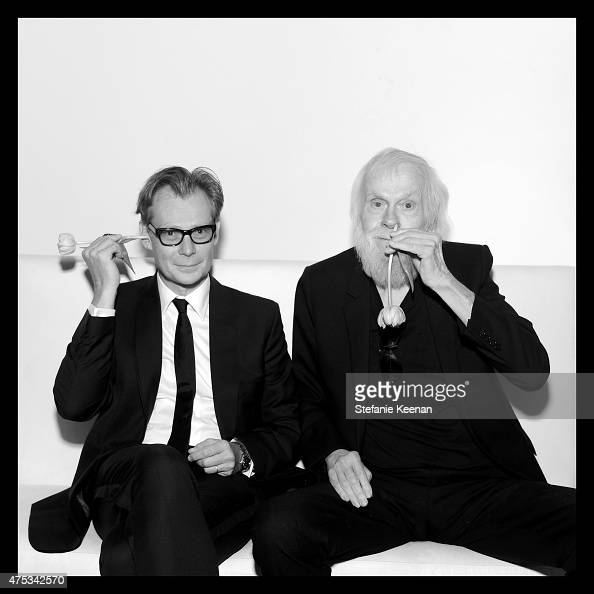 MOCA Director Philippe Vergne and artist and honoree John Baldessari attend the 2015 MOCA Gala presented by Louis Vuitton at The Geffen Contemporary...
