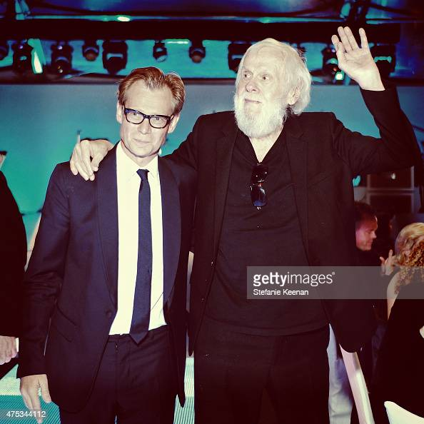 MOCA Director Philippe Vergne and honoree John Baldessari attend the 2015 MOCA Gala presented by Louis Vuitton at The Geffen Contemporary at MOCA on...
