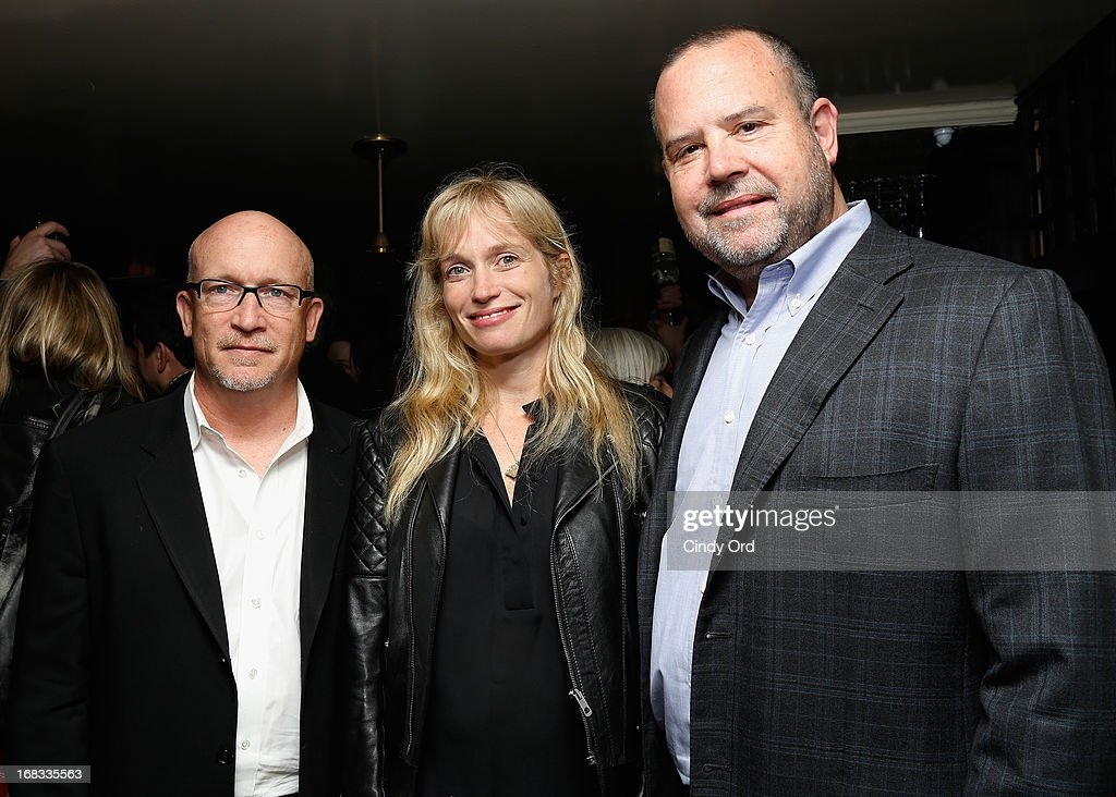 Director/ Producer <a gi-track='captionPersonalityLinkClicked' href=/galleries/search?phrase=Alex+Gibney&family=editorial&specificpeople=844225 ng-click='$event.stopPropagation()'>Alex Gibney</a>, Producer Alexis Bloom and Producer <a gi-track='captionPersonalityLinkClicked' href=/galleries/search?phrase=Marc+Shmuger&family=editorial&specificpeople=691268 ng-click='$event.stopPropagation()'>Marc Shmuger</a> attend the 'We Steal Secrets: The Story Of Wikileaks' New York Screening Reception at The Beatrice Inn on May 8, 2013 in New York City.