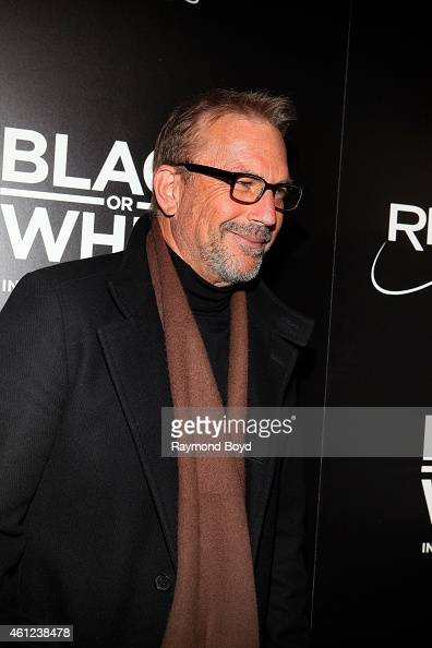 Director Producer and Actor Kevin Costner poses for photos prior to the 'Black Or White' movie screening at the Kerasotes Showplace Icon Theatres in...