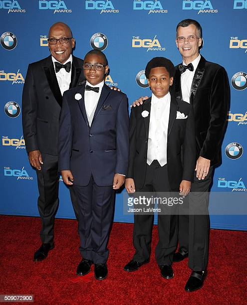 Director producer and the President of the Directors Guild of America Paris Barclay Christopher Mason and sons Cyrus Barclay and William Barclay...