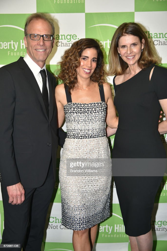 Director / producer / screenwriter Kirby Dick (L), actor Ana Ortiz (C), and producer / director Amy Ziering (R) attend the Upton Sinclair Awards as Honorees at The Beverly Hilton Hotel on April 20, 2017 in Beverly Hills,