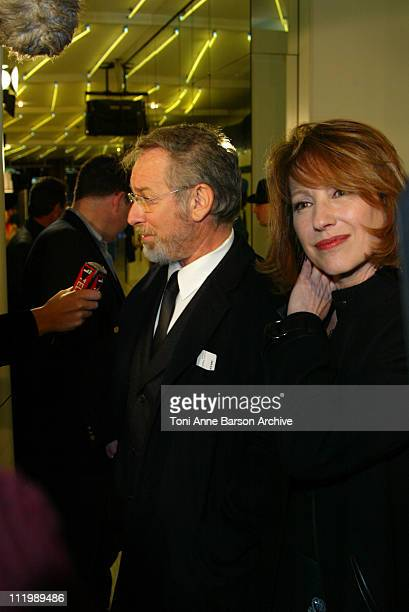 Director / producer Steven Spielberg and Nathalie Baye