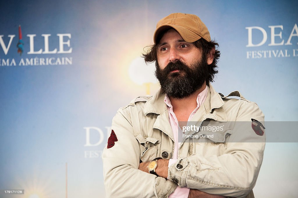 Director Quentin Dupieux poses at a photocall for the film 'Wrong Cops' during the 39th Deauville American film festival on September 1, 2013 in Deauville, France.