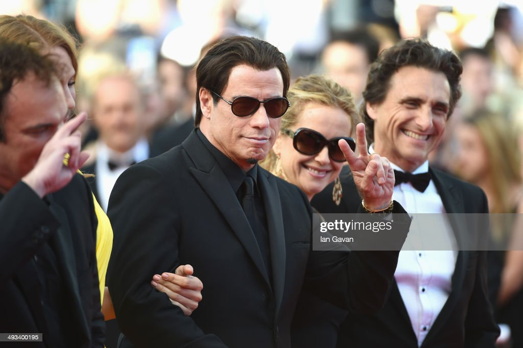 Director <a gi-track='captionPersonalityLinkClicked' href=/galleries/search?phrase=Quentin+Tarantino&family=editorial&specificpeople=171796 ng-click='$event.stopPropagation()'>Quentin Tarantino</a>, actors <a gi-track='captionPersonalityLinkClicked' href=/galleries/search?phrase=John+Travolta&family=editorial&specificpeople=178204 ng-click='$event.stopPropagation()'>John Travolta</a>, <a gi-track='captionPersonalityLinkClicked' href=/galleries/search?phrase=Kelly+Preston&family=editorial&specificpeople=159434 ng-click='$event.stopPropagation()'>Kelly Preston</a>, <a gi-track='captionPersonalityLinkClicked' href=/galleries/search?phrase=Uma+Thurman&family=editorial&specificpeople=171973 ng-click='$event.stopPropagation()'>Uma Thurman</a> and producer <a gi-track='captionPersonalityLinkClicked' href=/galleries/search?phrase=Lawrence+Bender&family=editorial&specificpeople=206529 ng-click='$event.stopPropagation()'>Lawrence Bender</a> attend the 'Clouds Of Sils Maria' premiere during the 67th Annual Cannes Film Festival on May 23, 2014 in Cannes, France.