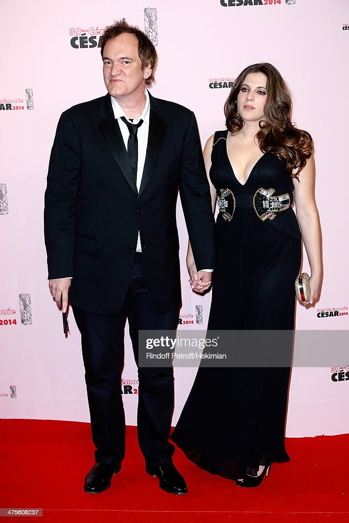 Director Quentin Tarantino and Courtney Hoffman arrive for the 39th Cesar Film Awards 2014 at Theatre du Chatelet on February 28, 2014 in Paris, France.