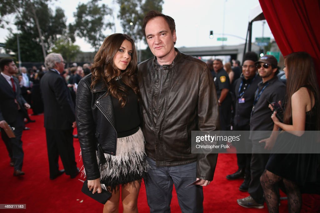 Director <a gi-track='captionPersonalityLinkClicked' href=/galleries/search?phrase=Quentin+Tarantino&family=editorial&specificpeople=171796 ng-click='$event.stopPropagation()'>Quentin Tarantino</a> (R) and guest attend the 56th GRAMMY Awards at Staples Center on January 26, 2014 in Los Angeles, California.