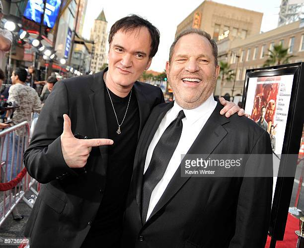Director Quentin Tarantino and producer Harvey Weinstein arrive at the premiere of Weinstein Co's 'Inglourious Basterds' held at Grauman's Chinese...