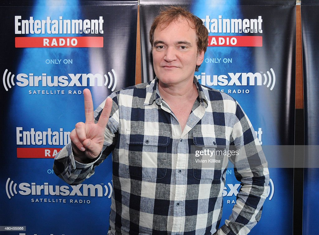 Director <a gi-track='captionPersonalityLinkClicked' href=/galleries/search?phrase=Quentin+Tarantino&family=editorial&specificpeople=171796 ng-click='$event.stopPropagation()'>Quentin Tarantino</a> attends SiriusXM's Entertainment Weekly Radio Channel Broadcasts From Comic-Con 2015 at Hard Rock Hotel San Diego on July 11, 2015 in San Diego, California.