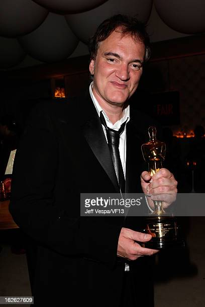 Director Quentin Tarantino attends the 2013 Vanity Fair Oscar Party hosted by Graydon Carter at Sunset Tower on February 24 2013 in West Hollywood...