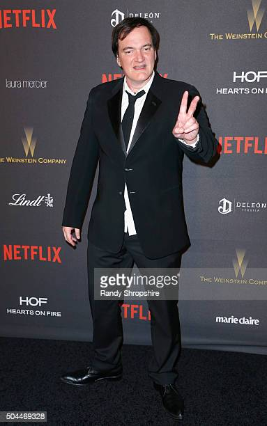 Director Quentin Tarantino attends the 2016 Weinstein Company and Netflix Golden Globe Awards After Party at The Beverly Hilton on January 10 2016 in...