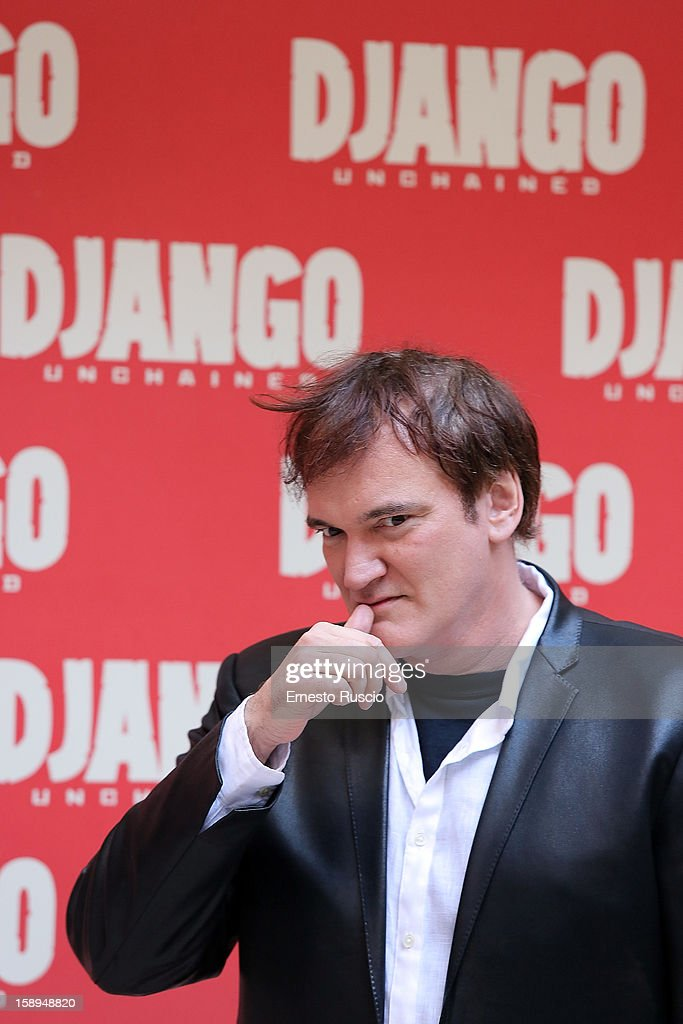 Director Quentin Tarantino attends the 'Django Unchained' photocall at the Hassler Hotel on January 4, 2013 in Rome, Italy.