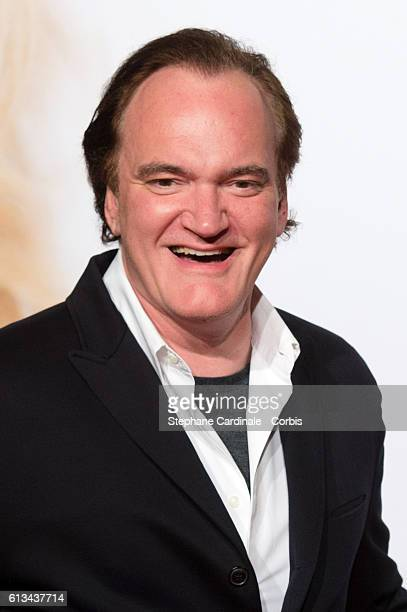 Director Quentin Tarantino attends the Opening Ceremony of the 8th Film Festival Lumiere on October 8 2016 in Lyon France