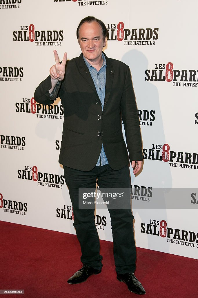 Director Quentin Tarantino attends the 'The Hateful Eight' Premiere at Le Grand Rex on December 11, 2015 in Paris, France.