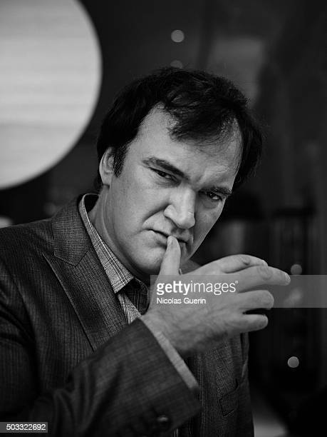 Director Quentin Tarantino is photographed for Positif on December 12 2015 in Paris France