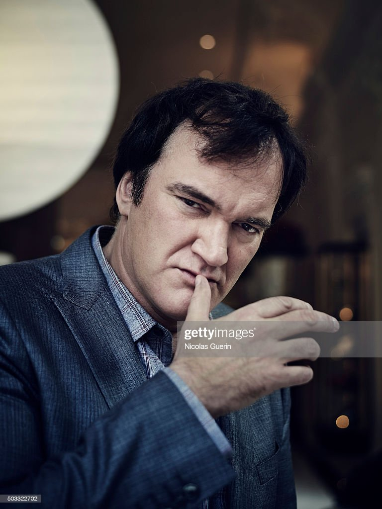 Director <a gi-track='captionPersonalityLinkClicked' href=/galleries/search?phrase=Quentin+Tarantino&family=editorial&specificpeople=171796 ng-click='$event.stopPropagation()'>Quentin Tarantino</a> is photographed for Positif on December 12, 2015 in Paris, France.