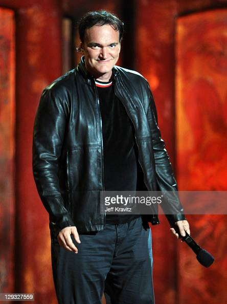 Director Quentin Tarantino onstage during Spike TV's 'Scream 2011' at Universal Studios on October 15 2011 in Universal City California