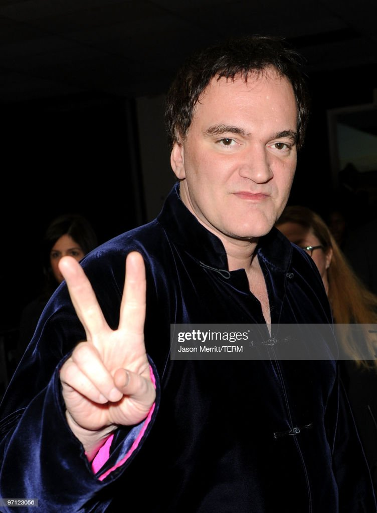 Director <a gi-track='captionPersonalityLinkClicked' href=/galleries/search?phrase=Quentin+Tarantino&family=editorial&specificpeople=171796 ng-click='$event.stopPropagation()'>Quentin Tarantino</a> poses backstage during the 41st NAACP Image awards held at The Shrine Auditorium on February 26, 2010 in Los Angeles, California.