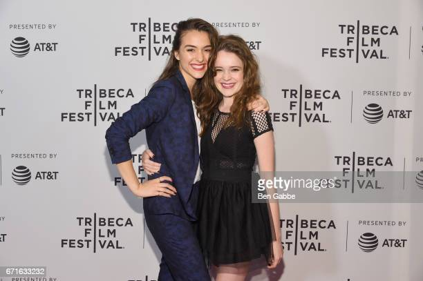 Director Quinn Shephard and Actor Nadia Alexander attend the 'Blame' Premiere during 2017 Tribeca Film Festival at Cinepolis Chelsea on April 22 2017...