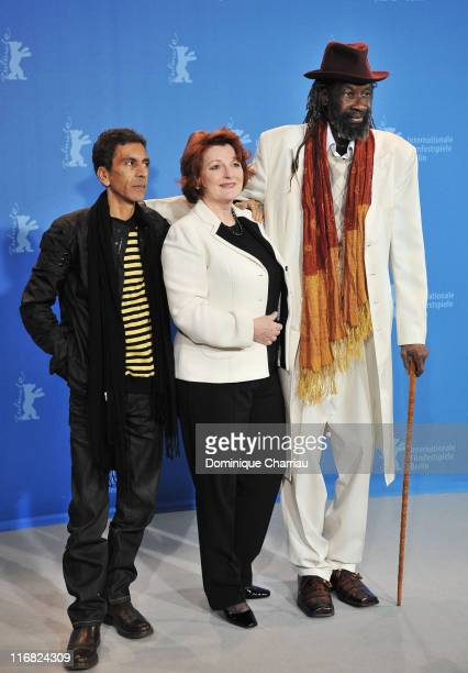 Director Rachid Bouchareb actress Brenda Blethyn and actor Sotigui Kouyate attend the 'London River' photocall during the 59th Berlin International...