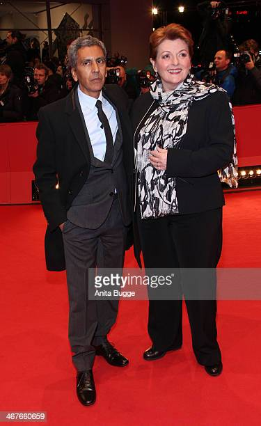 Director Rachid Bouchareb and actress Brenda Blethyn attend the 'Two Men in Town' premiere during 64th Berlinale International Film Festival at...