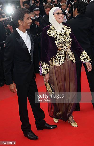 Director Rachid Bouchareb and Chafia Boudraa attend the 'Outside Of The Law' Premiere at the Palais des Festivals during the 63rd Annual Cannes Film...