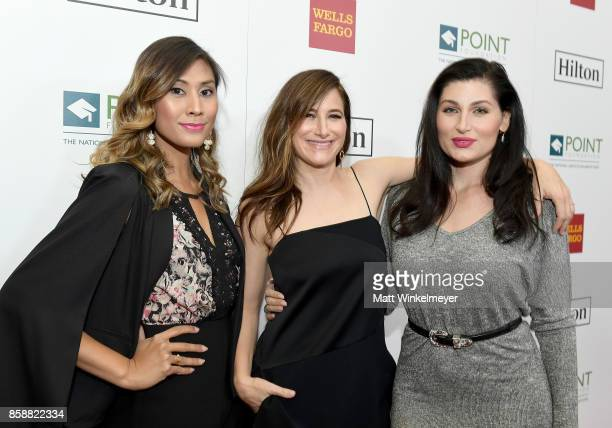 Director Rain Valdez actresses Kathryn Hahn and Trace Lysette at Point Honors Los Angeles 2017 benefiting Point Foundation at The Beverly Hilton...