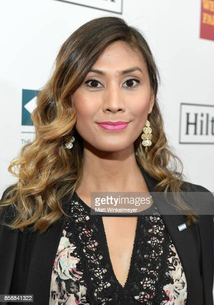 Director Rain Valdez at Point Honors Los Angeles 2017 benefiting Point Foundation at The Beverly Hilton Hotel on October 7 2017 in Beverly Hills...