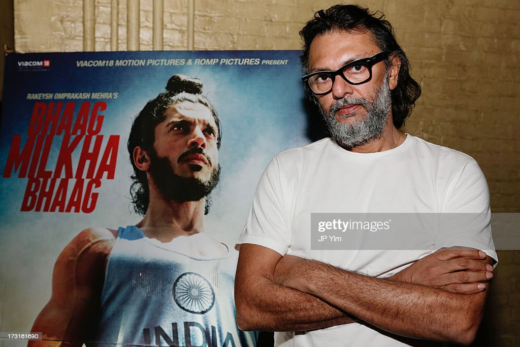 Director Rakeysh Omprakash Mehra attends the screening and press conference for 'Bhaag Milkha Bhaag' at Tribeca Cinemas on July 8 2013 in New York...