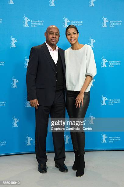 Director Raoul Peck and actress Ayo attend the 'Murder in Pacot' photocall during the 65th Berlinale International Film Festival at Grand Hyatt Hotel...