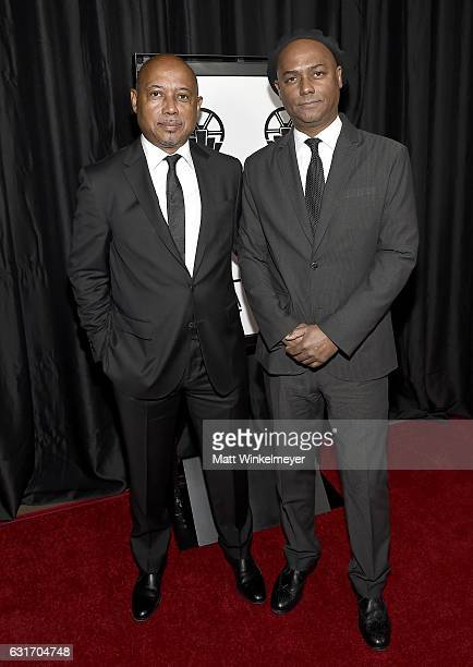 Director Raoul Peck and producer Hebert Peck attend the 42nd annual Los Angeles Film Critics Association Awards at InterContinental Los Angeles...