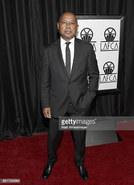 Director Raoul Peck attends the 42nd annual Los Angeles Film Critics Association Awards at InterContinental Los Angeles Century City on January 14...