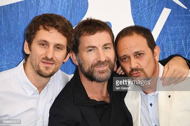 Director Raul Arevalo actors Antonio De La Torre and Luis Callejo attend a photocall for 'The Fury Of A Patient Man ' during the 73rd Venice Film...