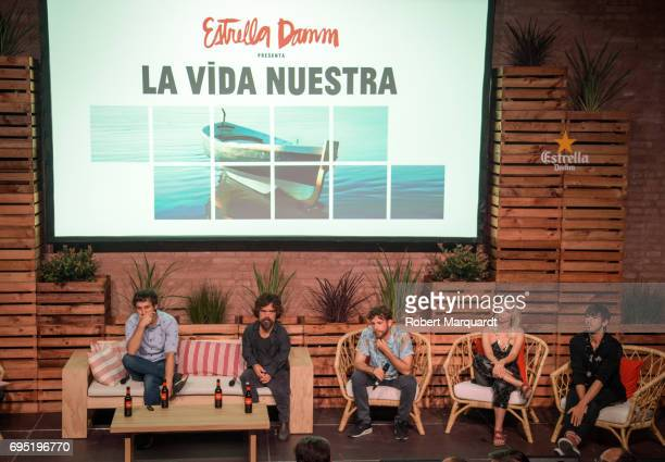 Director Raul Arevalo Peter Dinklage Alvaro Cervantes Ingrid GarciaJonsson and Marcel Borras attend a press presentation for their latest work 'La...