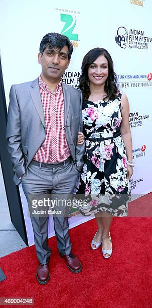 Director Ravi Kapoor and Actress/Writer Meera Simhan attend the 13th Annual Indian Film Festival Of Los Angeles Opening Night Screening Of...