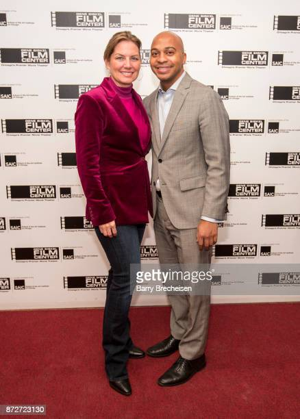 Director Rebecca Carpenter and Tregg Duerson on the red carpet for the premiere of the film Requiem for a Running Back at the Gene Siskel Film Center...