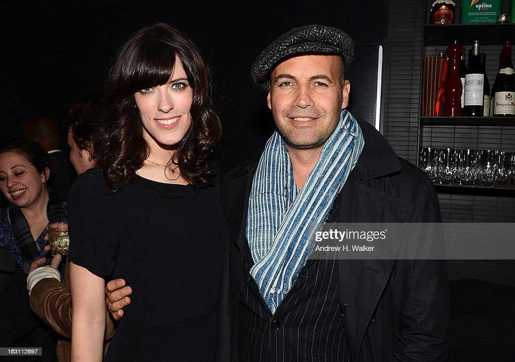 Director Rebecca Thomas and actor <a gi-track='captionPersonalityLinkClicked' href=/galleries/search?phrase=Billy+Zane&family=editorial&specificpeople=211418 ng-click='$event.stopPropagation()'>Billy Zane</a> attend the after party for The Cinema Society & Make Up For Ever screening of 'Electrick Children' at Hotel Americano on March 4, 2013 in New York City.