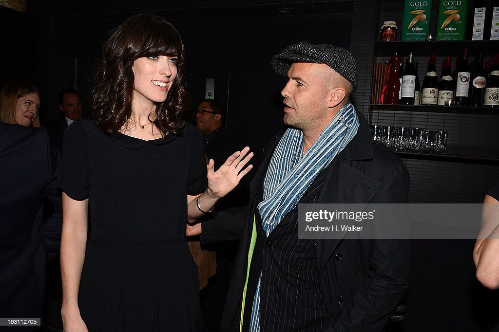 Director Rebecca Thomas and actor <a gi-track='captionPersonalityLinkClicked' href=/galleries/search?phrase=Billy+Zane&family=editorial&specificpeople=211418 ng-click='$event.stopPropagation()'>Billy Zane</a> talk at the after party for The Cinema Society & Make Up For Ever screening of 'Electrick Children' at Hotel Americano on March 4, 2013 in New York City.