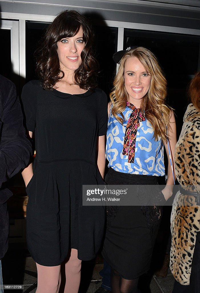 Director Rebecca Thomas and actress Cassidy Gard attend the after party for The Cinema Society & Make Up For Ever screening of 'Electrick Children' at Hotel Americano on March 4, 2013 in New York City.