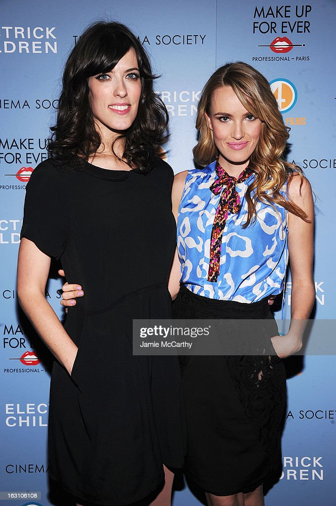 Director Rebecca Thomas (L) and actress Cassidy Gard attend The Cinema Society & Make Up For Ever screening of 'Electrick Children' at IFC Center on March 4, 2013 in New York City.