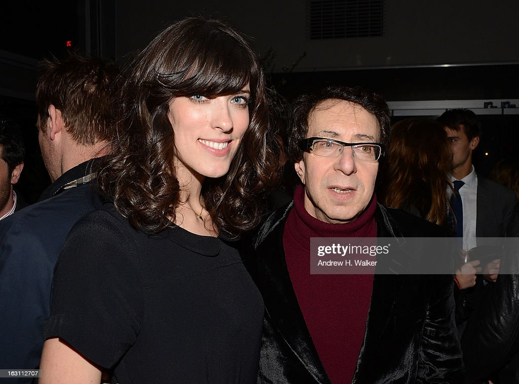 Director Rebecca Thomas and producer Richard Neustadter attend talk at the after party for The Cinema Society & Make Up For Ever screening of 'Electrick Children' at Hotel Americano on March 4, 2013 in New York City.