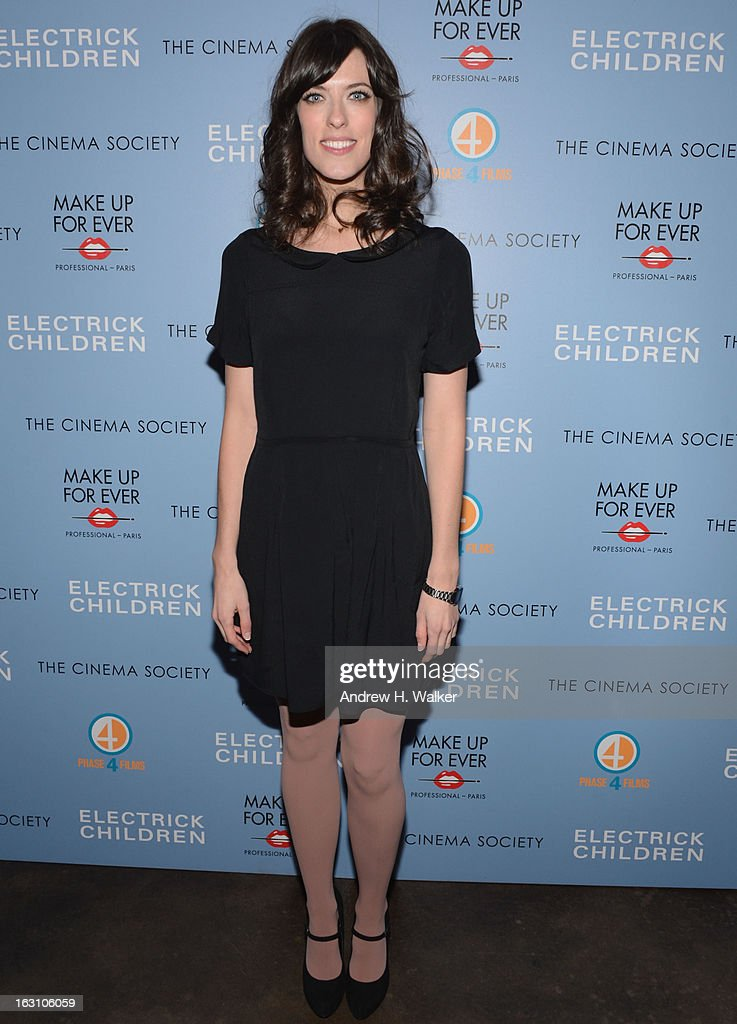 Director Rebecca Thomas attends The Cinema Society & Make Up For Ever screening of 'Electrick Children' at IFC Center on March 4, 2013 in New York City.