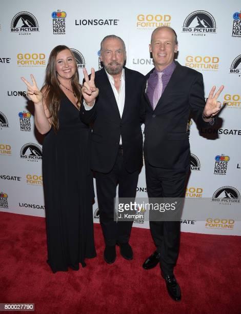 Director Rebecca Tickell John Paul DeJoria and director Josh Tickell attend the 'Good Fortune' New York Premiere at AMC Loews Lincoln Square 13...