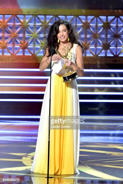 Director Reed Morano accepts the Outstanding Directing for a Drama Series award for 'The Handmaid's Tale' onstage during the 69th Annual Primetime...