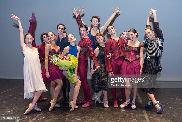 Director Reiko Cheong and dancers pose for a picture during the Grand Gala of the Paris Opera National Ballet Renowned and talented Etoiles and...