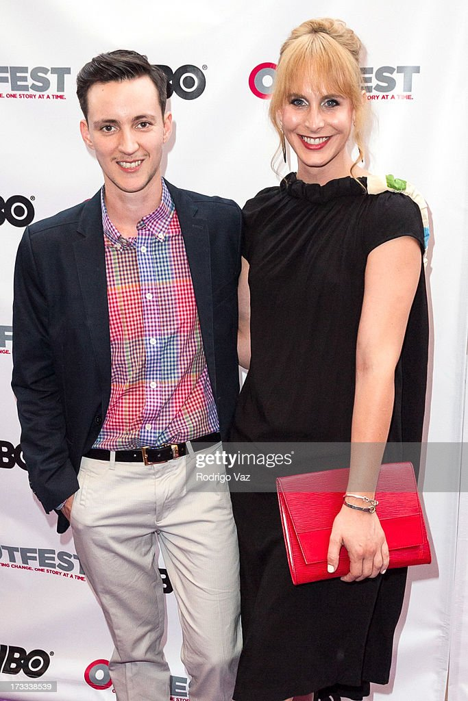 Director Rhys Ernst (L) and producer Zackary Drucker arrive at the 13th Annual Outfest Opening Night Gala Of 'C.O.G.' at Orpheum Theatre on July 11, 2013 in Los Angeles, California.