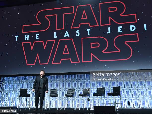 Director Rian Johnson attends the Star Wars Celebration day 02 on April 14 2017 in Orlando Florida