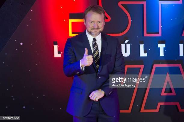 Director Rian Johnson attends the 'Star Wars The Last Jedi' premiere at Oasis shopping mall in Mexico City Mexico on November 20 2017