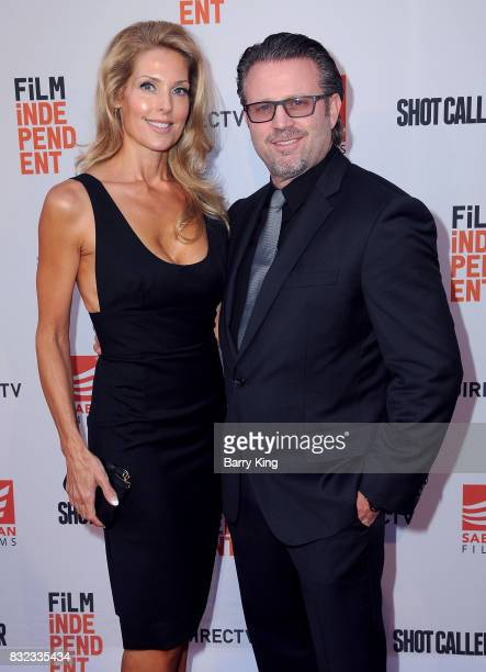 Director Ric Roman Waugh and wife Tanya Lynn Waugh attend screening of Saban Films and DIRECTV's' 'Shot Caller' at The Theatre at Ace Hotel on August...